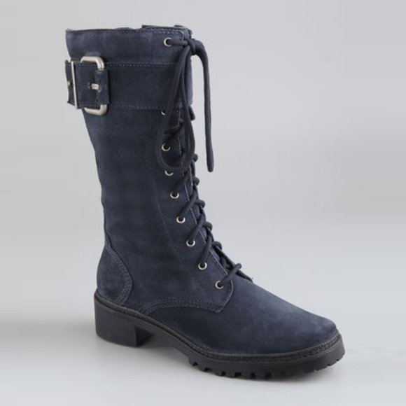 7 For All Mankind Shoes - 7 For All Mankind Gingerly Suede Combat Boots